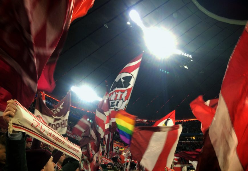 În prima linie alături de Schickeria. Bayern Munchen-rb scheiss