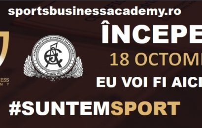 Înscrie-te la Sports Business Academy. Eu o să fiu acolo